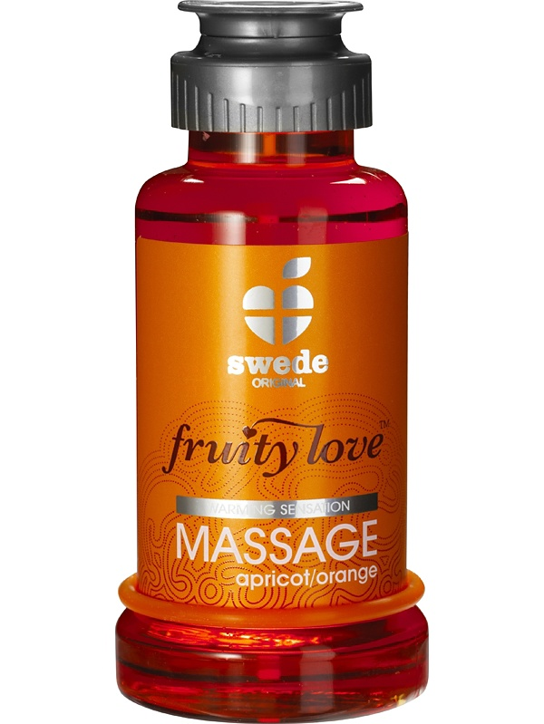Swede Fruity Love: Värmande Massageolja Aprikos/Apelsin, 100 ml