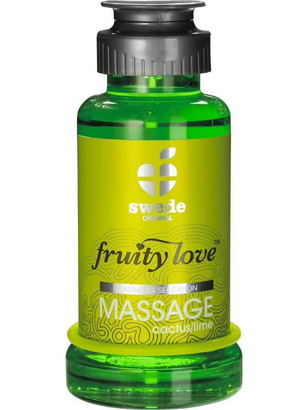 Swede Fruity Love: Värmande Massageolja Kaktus/Lime, 100 ml