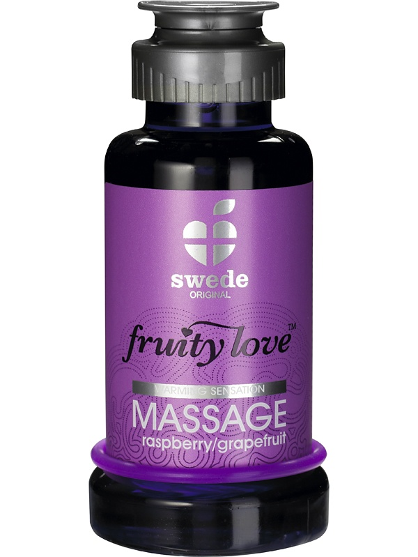 Swede Fruity Love: Värmande Massageolja Hallon/Grapefrukt, 100 ml