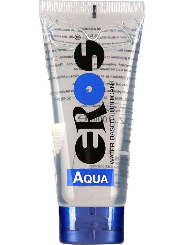 Eros Aqua: Vattenbaserat Glidmedel, 100 ml