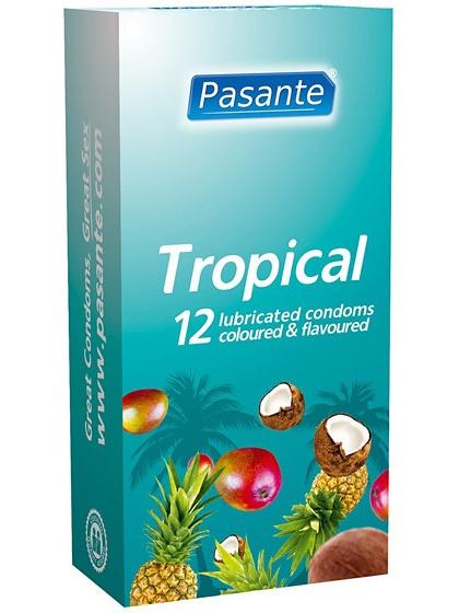 Pasante Tropical: Kondomer, 12-pack