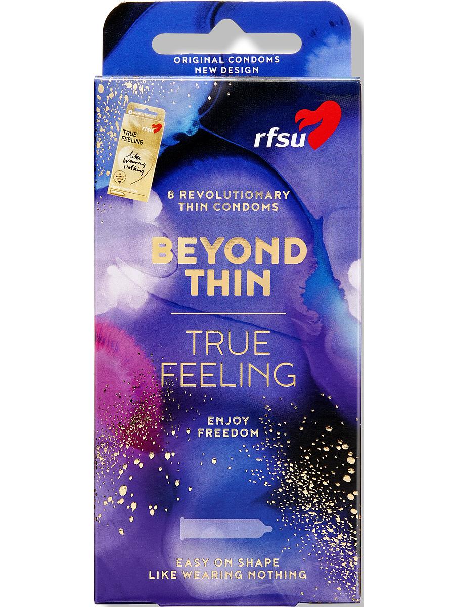 RFSU Beyond Thin (True Feeling): Kondomer, 8-pack | Kondomer | Intimast.se - Sexleksaker