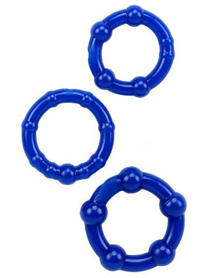Stay Hard: Penisringar, blå, 3-pack