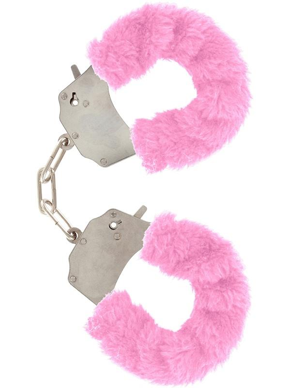Toy Joy: Furry Fun Cuffs Plush, rosa