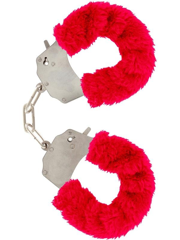 Toy Joy: Furry Fun Cuffs Plush, röd