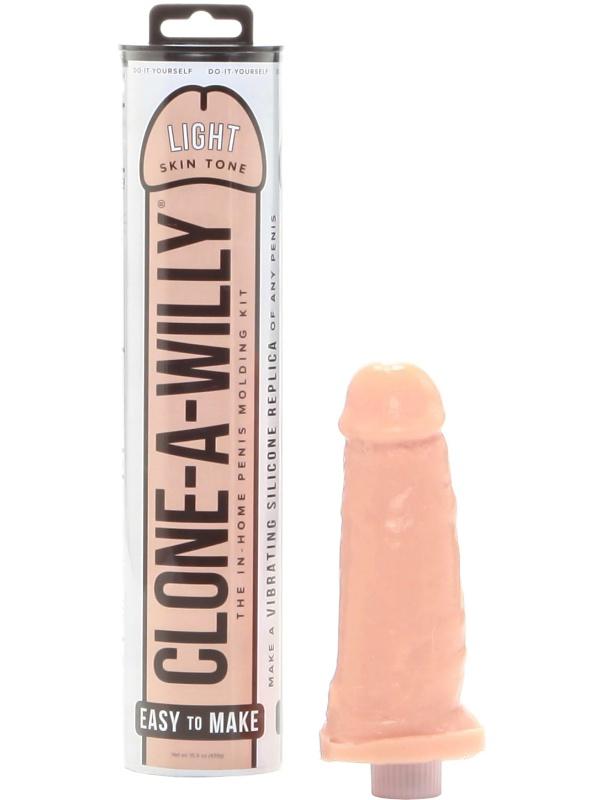 Clone-A-Willy: Vibrator Penisavgjutning, ljus hudfärg