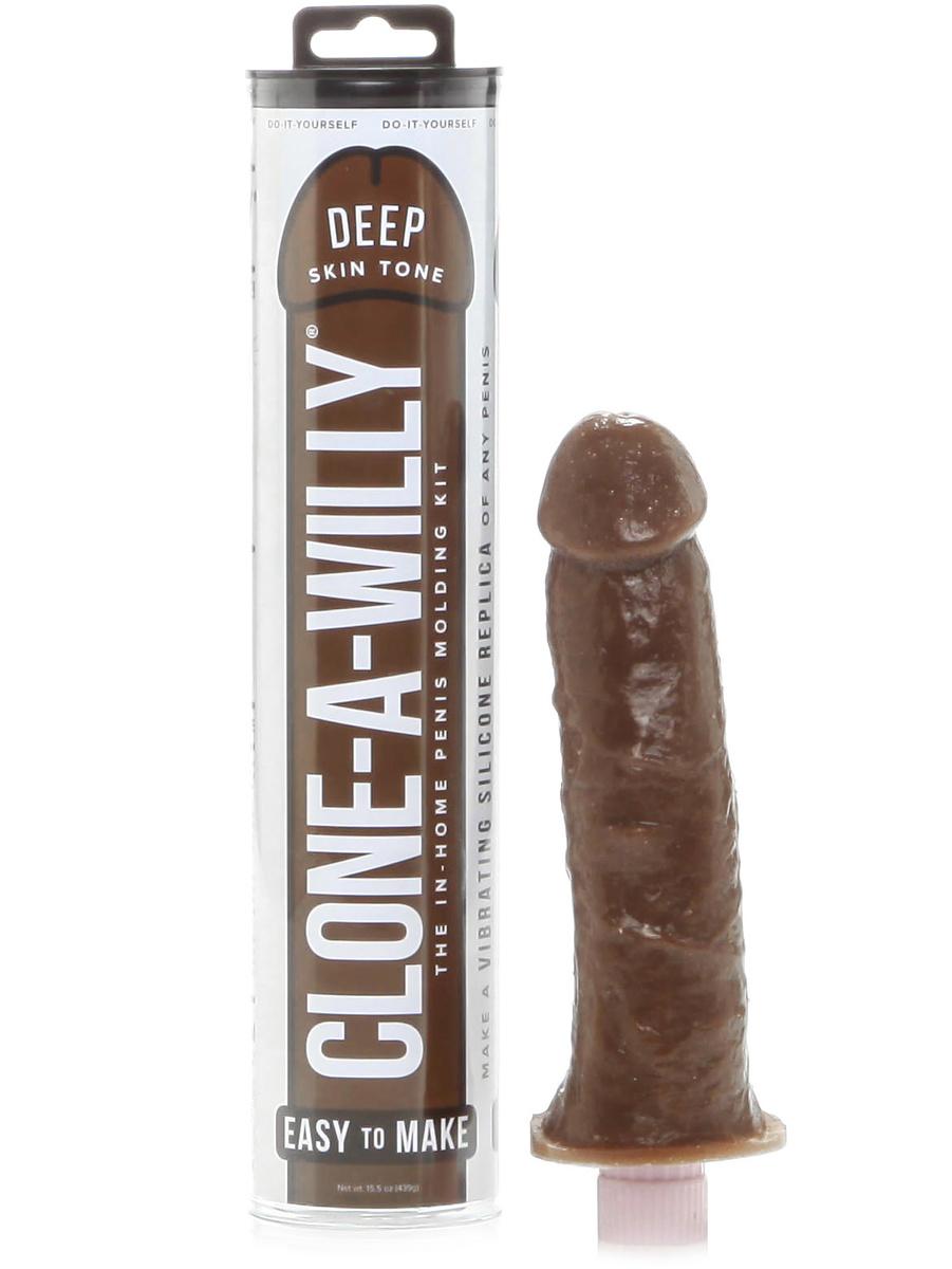 Clone-A-Willy: Vibrator Penisavgjutning, mörk hudfärg