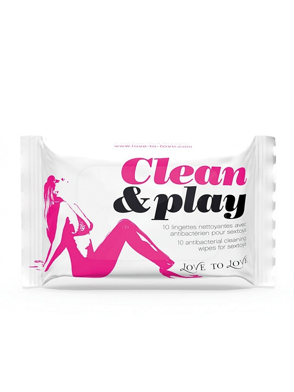 Love to Love: Clean & Play, Rengöringsservetter, 10-pack