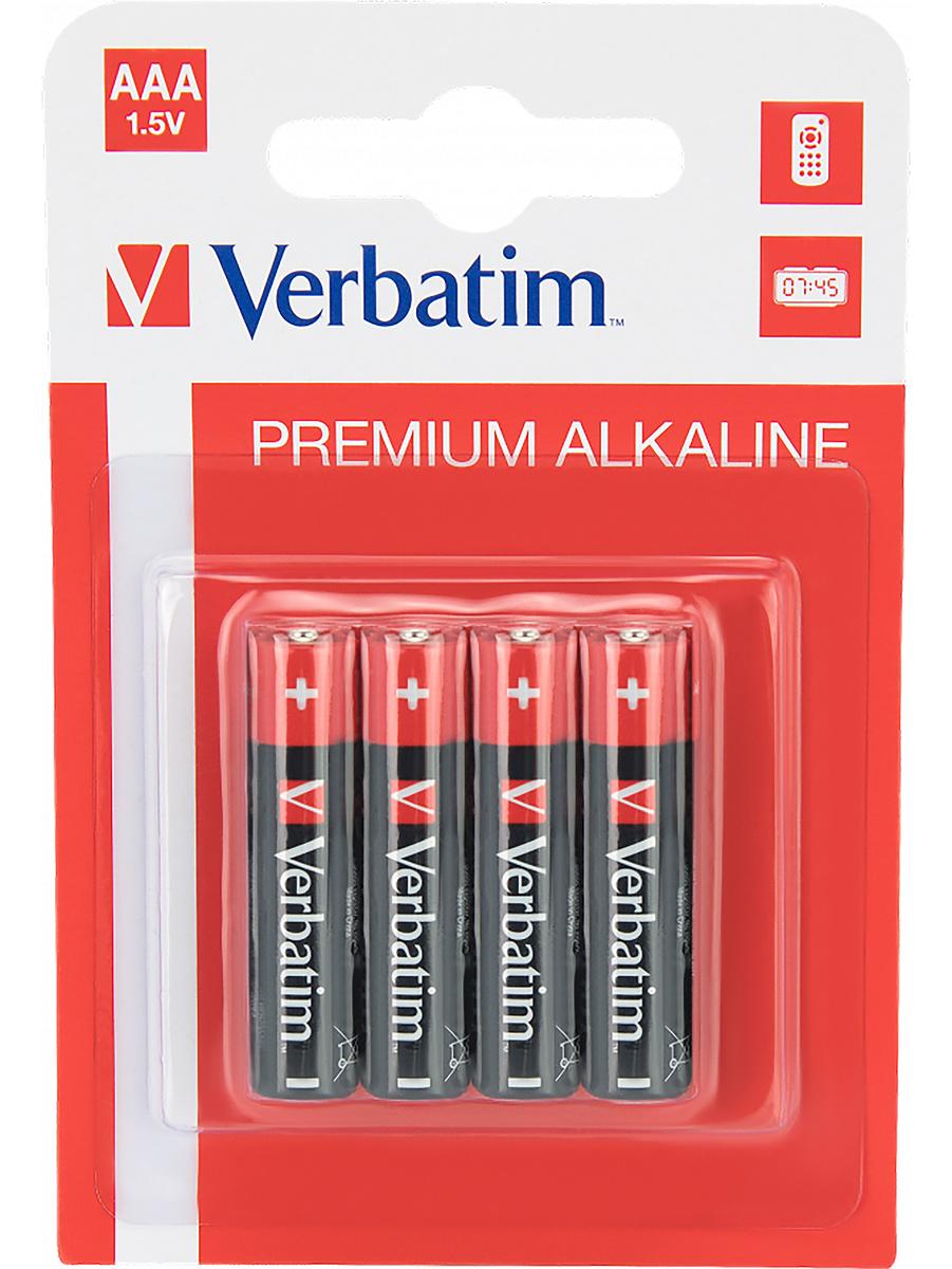 Verbatim Batterier: Premium, AAA (LR3), 1,5V, Alkaline, 4-pack | Tillbehör | Intimast.se - Sexleksaker
