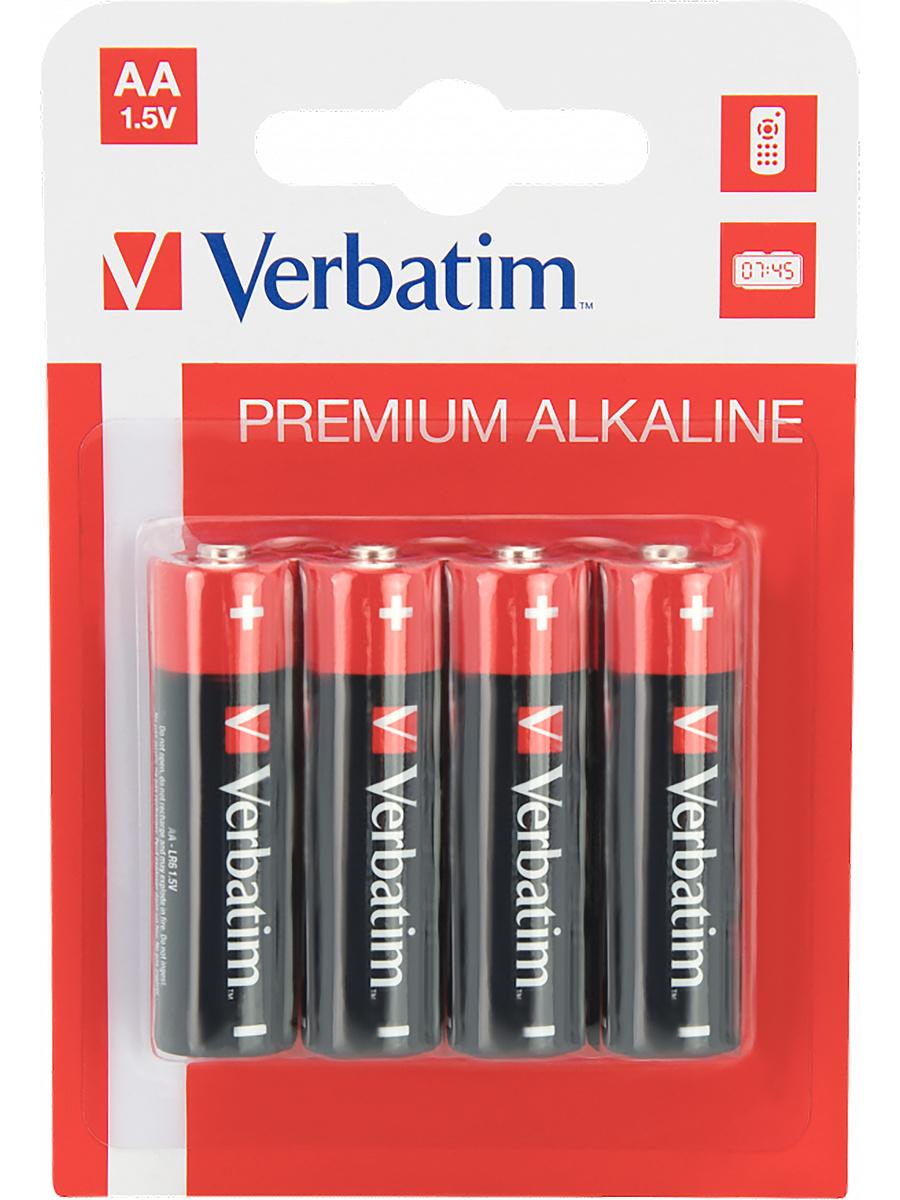 Verbatim Batterier: Premium, AA (LR6), 1,5V, Alkaline, 4-pack | Tillbehör | Intimast.se - Sexleksaker
