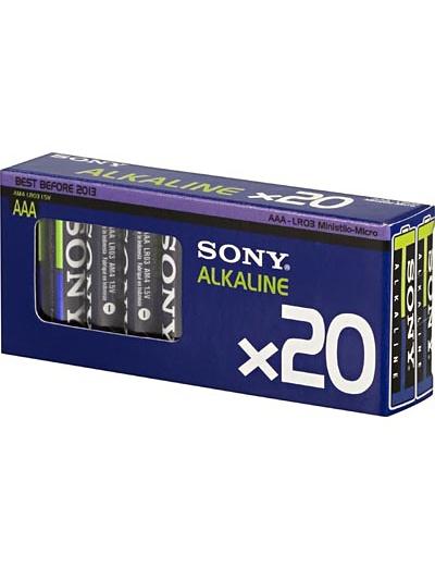 Sony Batterier: Ecopack, AAA (LR3), 1,5V, 20-pack