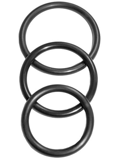 Sex & Mischief: Nitrile Cock Ring, 3-pack