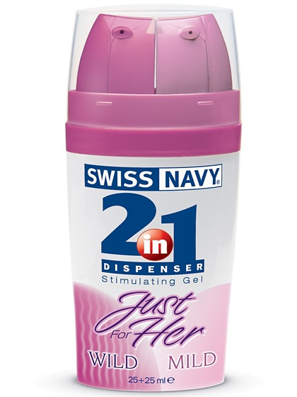 Swiss Navy 2 in 1: Just for Her, Stimulerande Gel, 25 + 25 ml