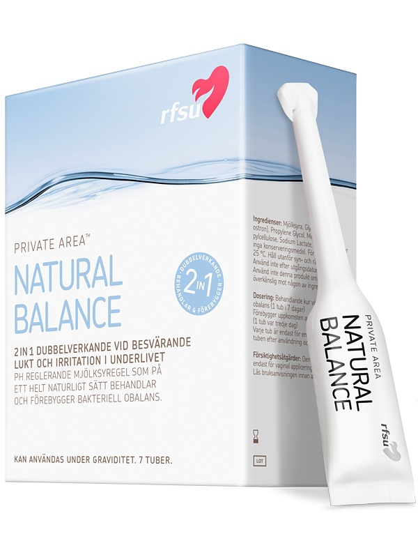 RFSU Natural Balance: Mot bakteriell vaginos, 7-pack
