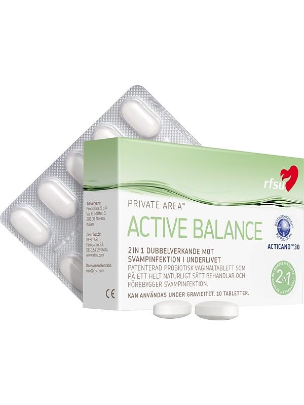 RFSU Active Balance: Vaginaltablett, 10-pack