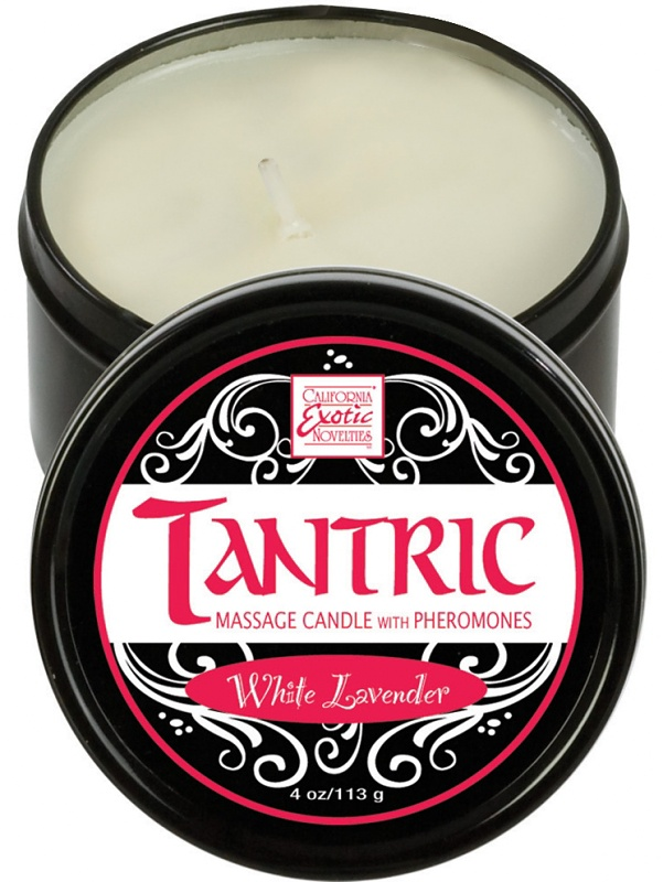 California Exotic: Tantric Massageljus, Vit Lavendel