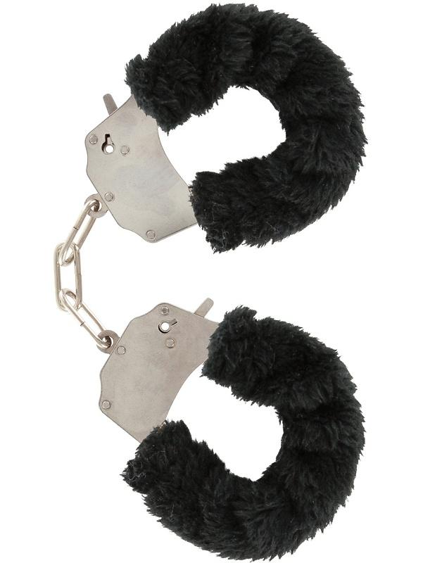 Toy Joy: Furry Fun Cuffs Plush, svart