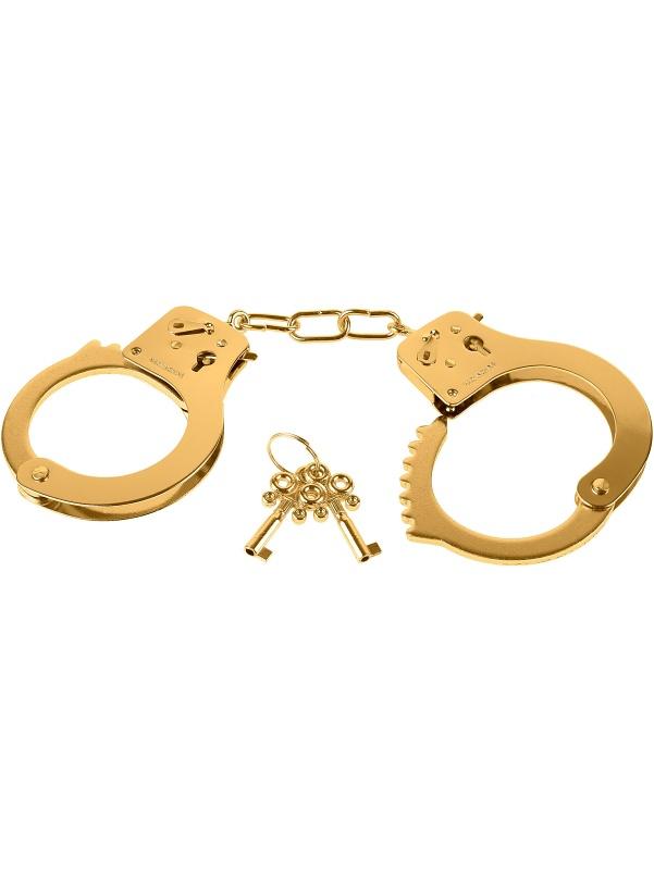 Pipedream Fetish Fantasy: Metal Cuffs, gold