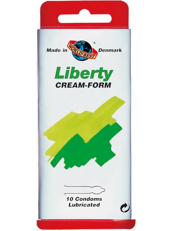Worlds Best: Liberty Cream-Form, Kondomer, 10-pack | Kondomer | Intimast.se - Sexleksaker