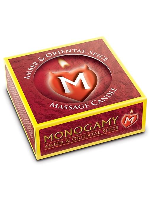 Monogamy Massageljus: Bärnsten & Orientalisk Krydda