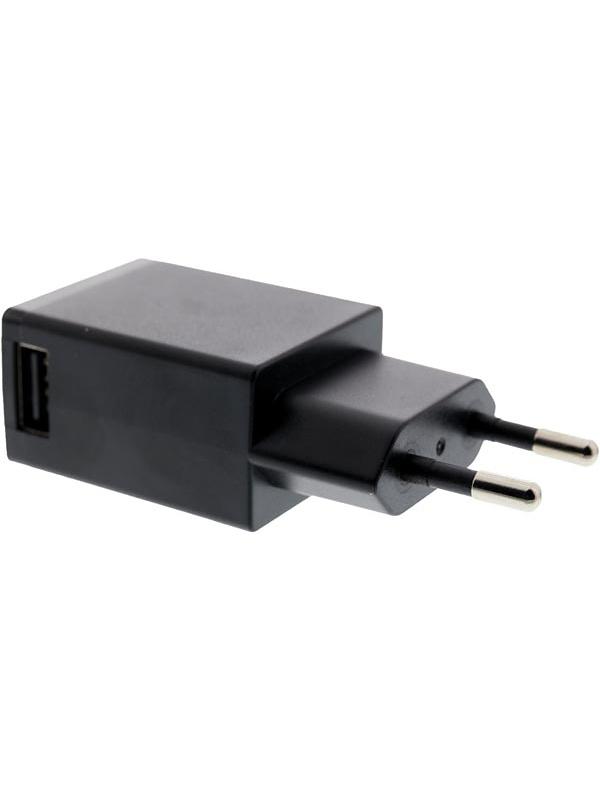 USB-Väggladdare: 5V, 1A, svart