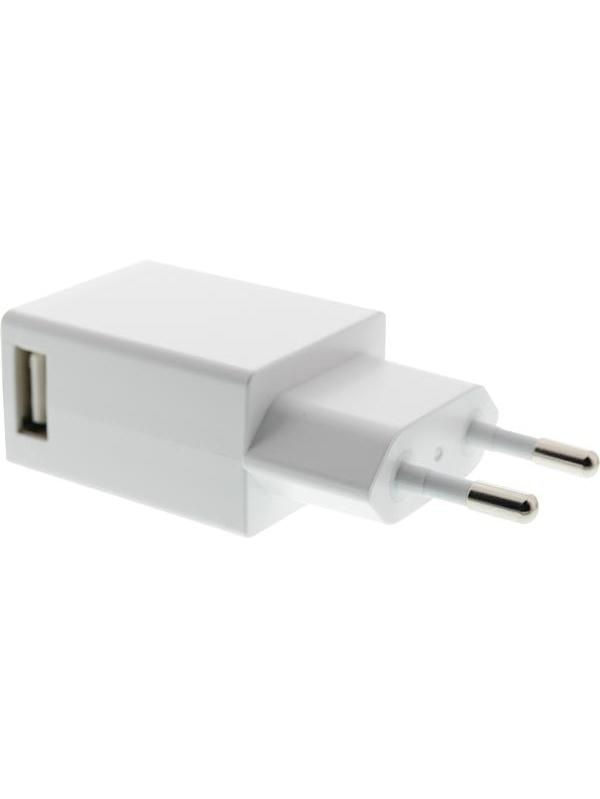 USB-Väggladdare: 5V, 1A, vit