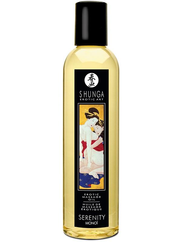 Shunga Massageolja: Serenity Monoi, 250 ml