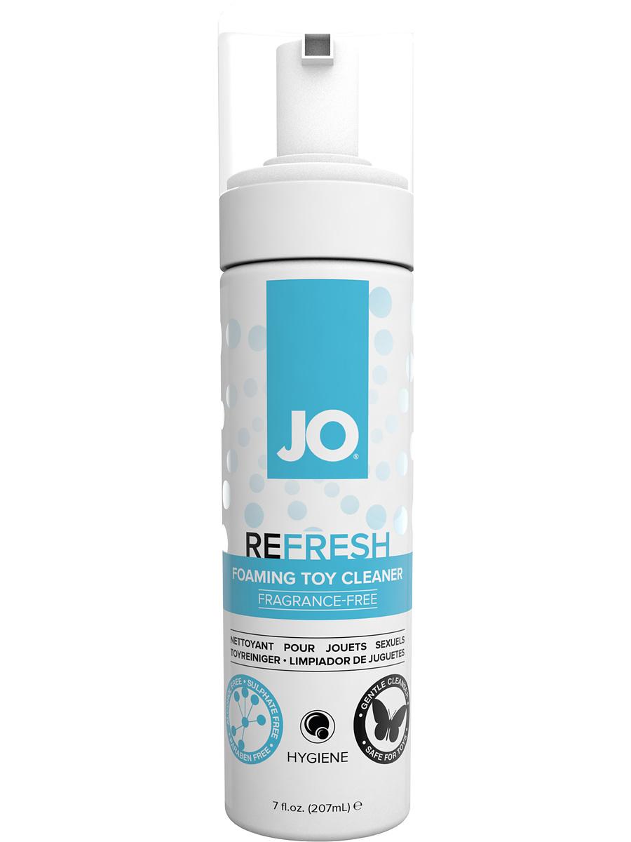 System JO: Refresh, Foaming Toy Cleaner, 207 ml | Rengöring av leksaker | Intimast.se - Sexleksaker