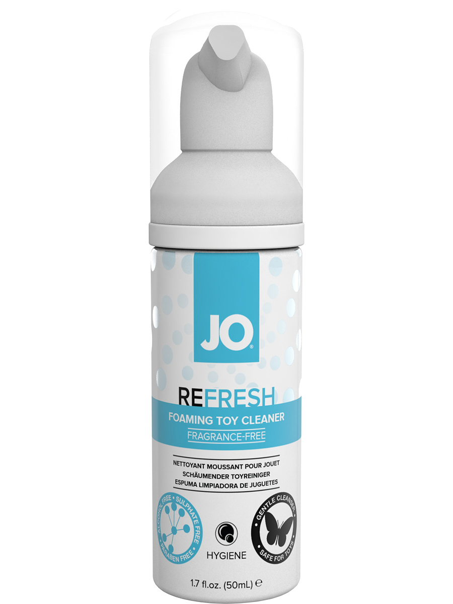 System JO: Refresh, Foaming Toy Cleaner, 50 ml | Rengöring av leksaker | Intimast.se - Sexleksaker