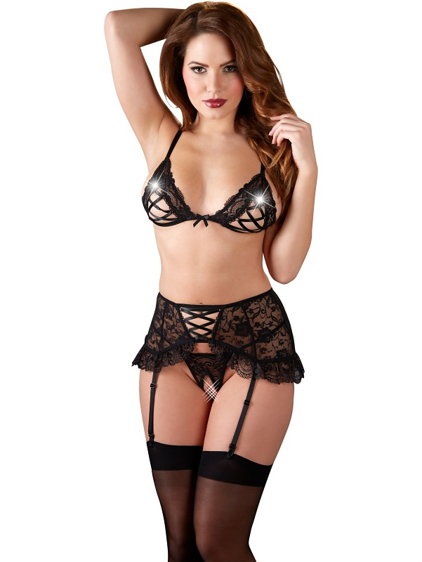 Cottelli Collection: Candis Suspender Set