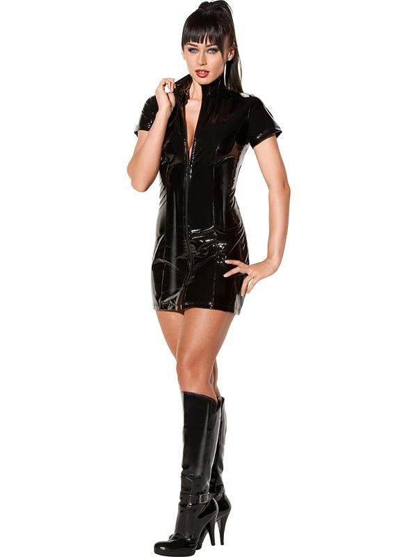 Avanza: Vinyl Dress with Zipper