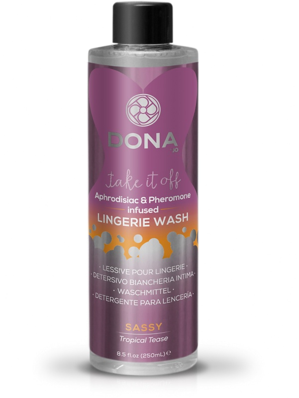 System JO: Dona, Lingerie Wash, Sassy Tropical Tease, 250 ml