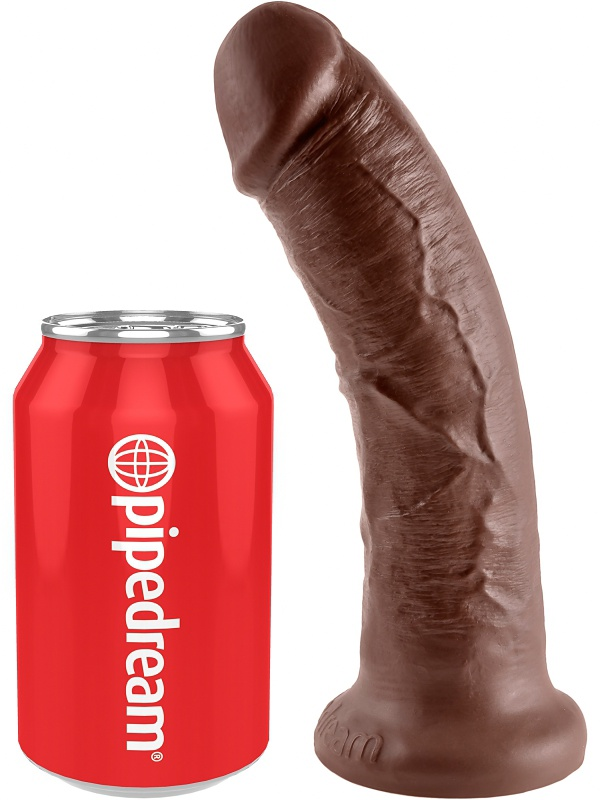 Pipedream: King Cock, 8 inch Cock, brun
