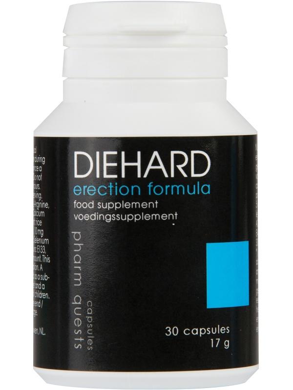 Pharmquests: DieHard, Erection Formula, 30 kapslar