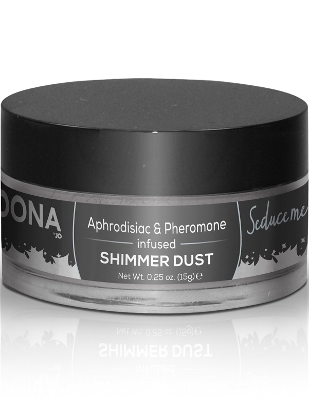 System JO: Dona, Aphrodisiac & Pheromone, Shimmer Dust, Silver, 15 g