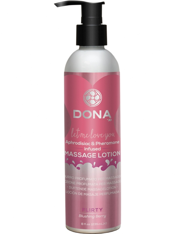 System JO: Dona, Massage Lotion, Flirty, Blushing Berry, 235 ml
