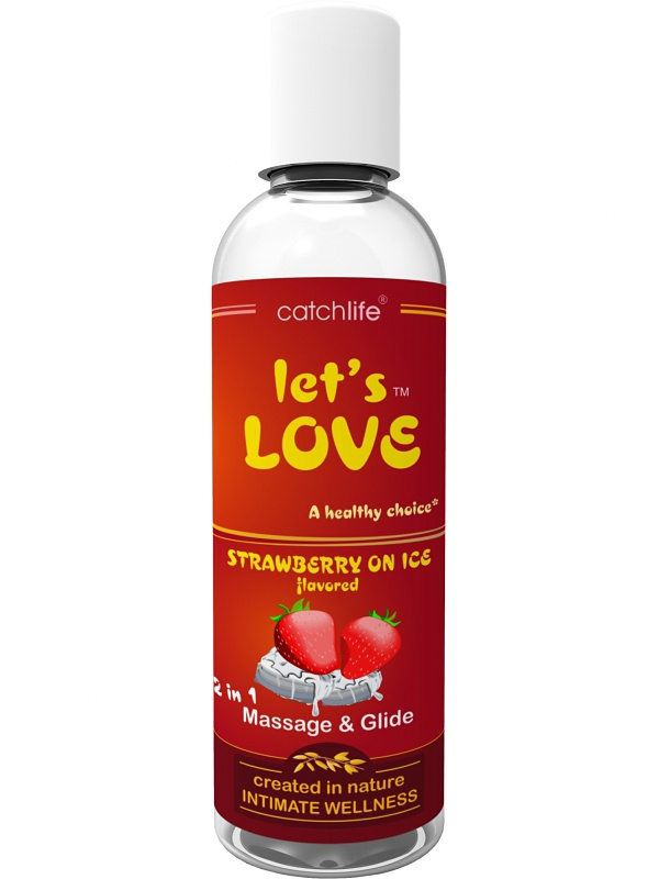 Catchlife: Let's Love, Strawberry on Ice, 100 ml   Glidmedel   Intimast.se - Sexleksaker