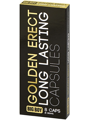 Cobeco: Big Boy, Golden Erect, Long Lasting Capsules, 8 st