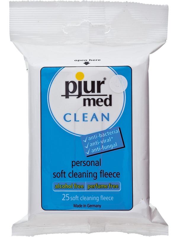 Pjur Med: Clean, Soft Cleaning Fleece, 25-pack