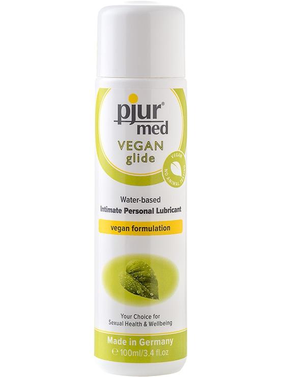 Pjur Med: Vegan Glide, Vattenbaserat Glidmedel, 100 ml | Glidmedel | Intimast.se - Sexleksaker