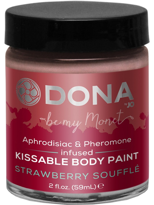 System JO: Dona, Kissable Body Paint, Strawberry Soufflé, 59 ml
