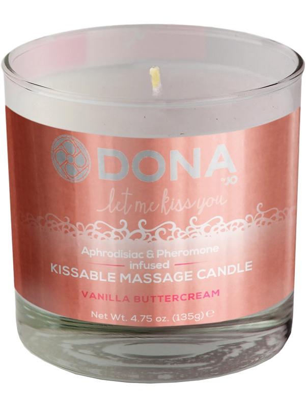 System JO: Dona, Kissable Massage Candle, Vanilla Buttercream