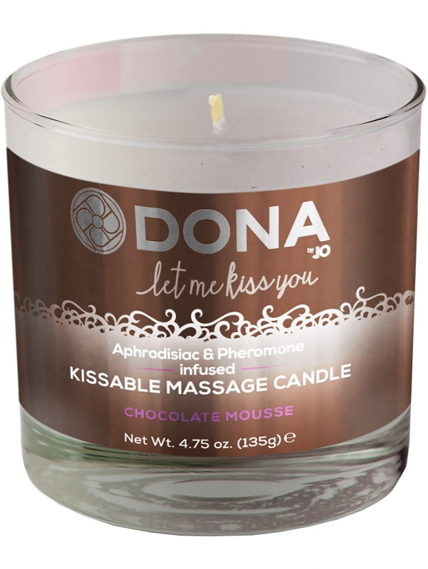 System JO: Dona, Kissable Massage Candle, Chocolate Mousse