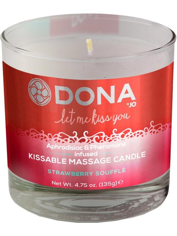 System JO: Dona, Kissable Massage Candle, Strawberry Soufflé