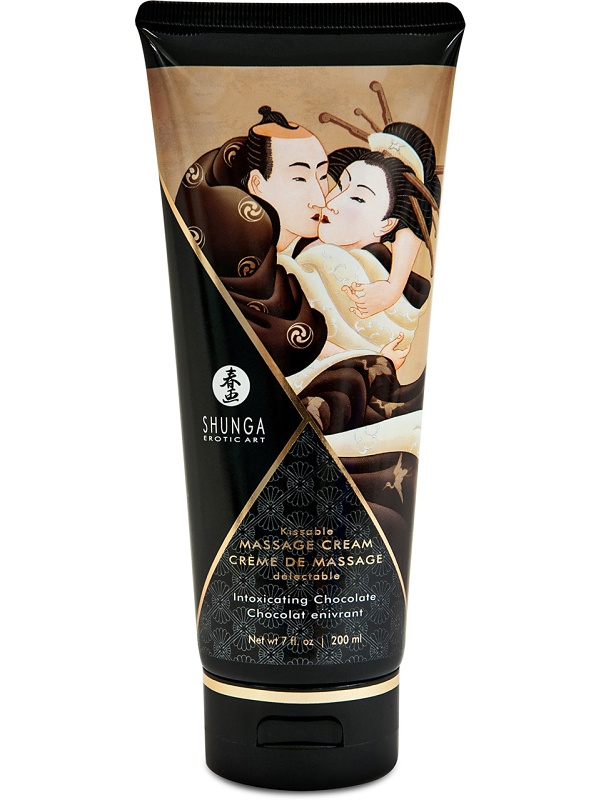 Shunga: Massage Cream, Intoxicating Chocolate, 200 ml