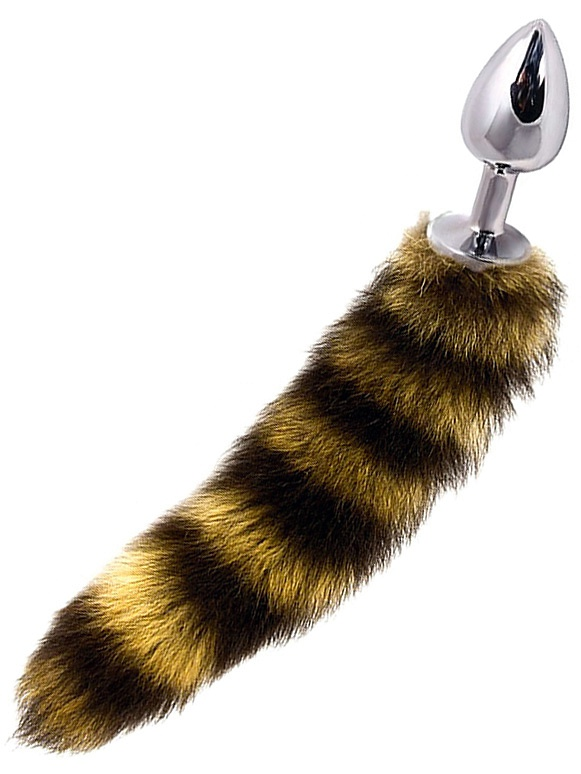 Dolce Piccante: Jewellery Plug with Tail, stripe/silver, small