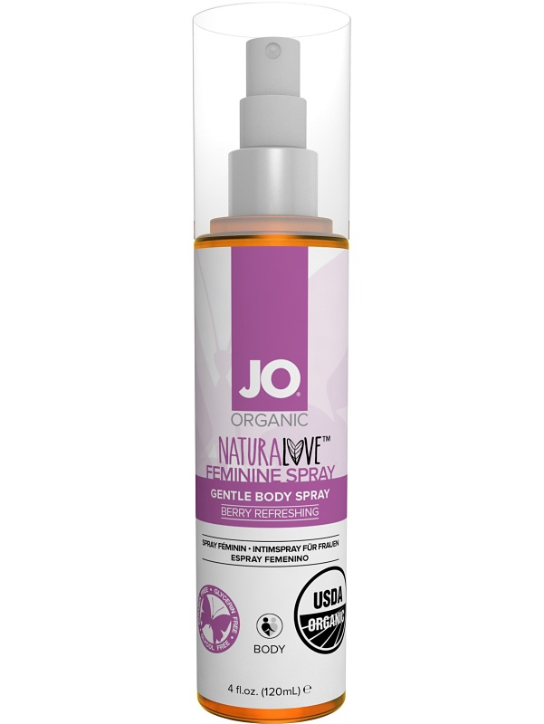 System JO: Organic Naturalove, Feminine Spray, 120 ml