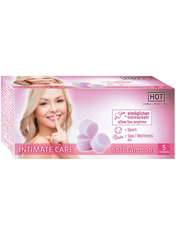 Hot: Intimate Care, Soft Tampons, 5-pack