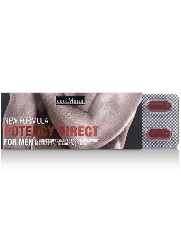 CoolMann: Potency Direct, Erection Tabs, 16 st