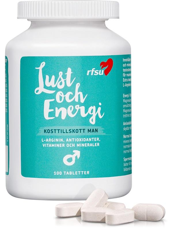 RFSU: Lust och Energi, Man, 100 tabletter